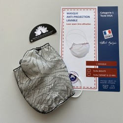 "Mask ""Cloud"" with french Leavers Lace"