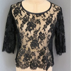 """Top Marilyn in French lace """"dentelle de Calais-Caudry®"""""""