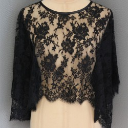 French Leavers Lace poncho