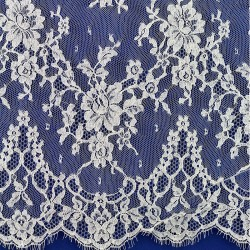 Stephanie Wide Width - French Leavers Lace