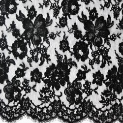 Isabelle  Embroidered - French Leavers Lace