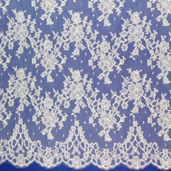 Stéphanie Embroidered - French Leavers Lace