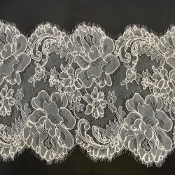 Catherine Embroidered 30 cm - French Leavers Lace