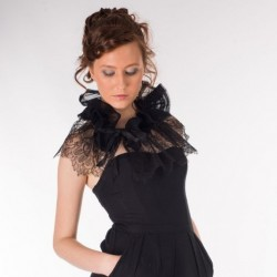 Cover shoulders - French Leavers Lace