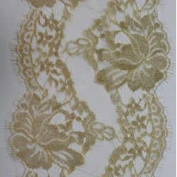 Hillary Metalic 15 cm - French Leavers Lace